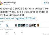 CentOS 7 ARM 版发布:支持树莓派2/香蕉派/CubieTruck